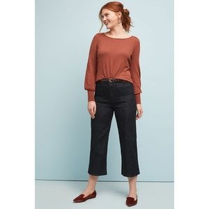 Pilcro High-rise Cropped Wide-leg Jeans
